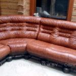 кожаный диван после обивки, фото