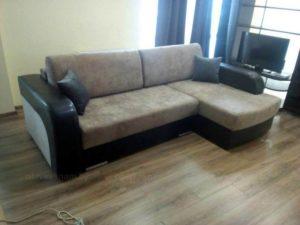 замена обивки - угловой диван